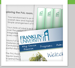 Franklin University Web Design Creative Concepts